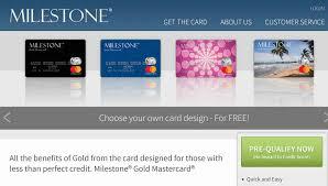 Milestone® Mastercard credit card